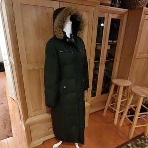 Michael Kors Long Down Coat with Hood